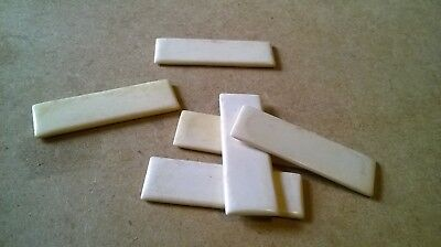 Rectangular Piece of Bone For Inlay / Jewellery  61 x 19 mm    Vintage Counter
