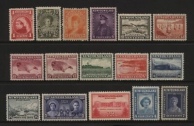 Newfoundland Collection 16 Space Filler Stamps Mounted Mint