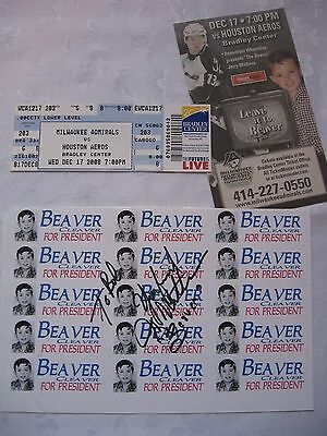 Leave it to Beaver JERRY MATHERS Autograph Beaver Cleaver for President Stickers