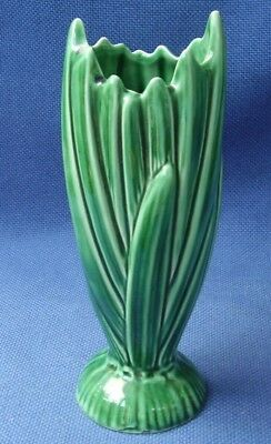SylvaC - VINTAGE GREEN REED VASE 2321 - 17.5 cm HIGH - EXCELLENT CONDITION