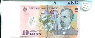 Romania 10 Lei  Currency Note Cu 2358J