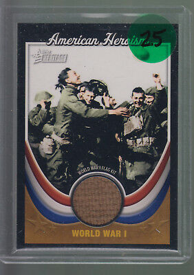 2009 Topps American Heritage Collection Heroism World War I Flag Kit