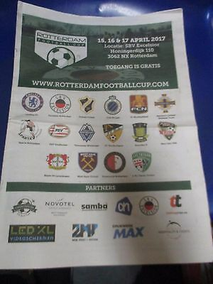 Rotterdam Official Coloured Youth  Programme Chelsea West Ham Northern Ireland