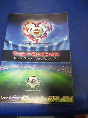 Official Euro Austria Coloured Youth  2017 Programme Liverpool Newcastle
