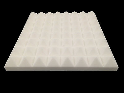 Advanced Acoustics Mel-Acoustic Pyramid PRO 75mm White Melamine Foam Panel