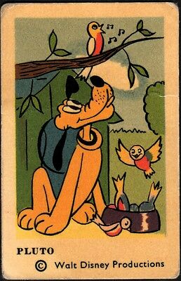 1964 Vintage Swedish Unnumbered Disney Set Gum Card Pluto