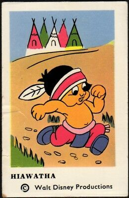 1964 Vintage Swedish Unnumbered Disney Set Gum Card Hiawatha