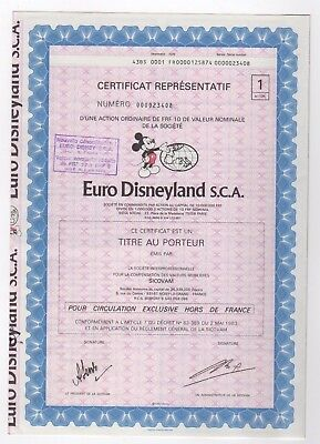 Euro Disneyland S.C.A. Bond with coupons