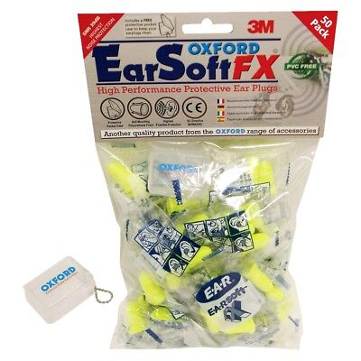 Oxford Yellow Ear Soft Fx Motorcycle Ear Plugs - 50 Pack -  Of537