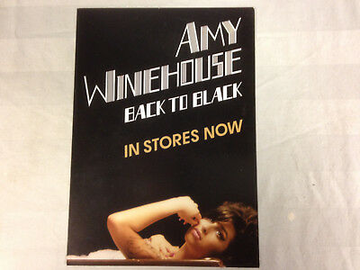 Amy Winehouse Back To Black Promo Postcard  Near Mint condition