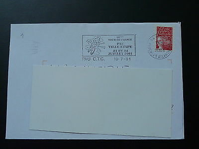 bicycle cycling Tour de France 2001 postmark on cover