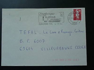bicycle cycling Tour de France 1995 postmark on cover