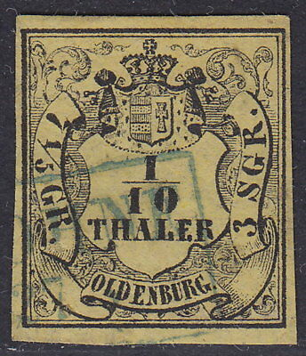 "Oldenburg: 1852, 1/10 Th. R2: "" LOHNE  27 ""   Mi.Nr.4a   Mi.120,00 €   #787"