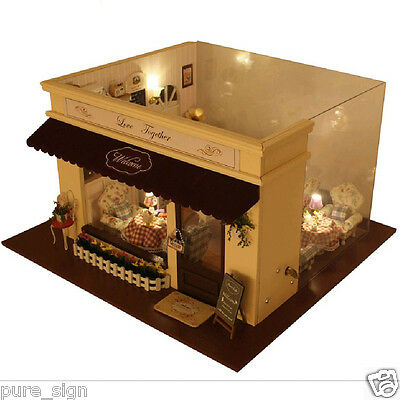 DIY Handcraft Miniature Project Wooden Dolls House The Love Melody Cafe Lounge