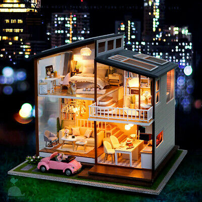 DIY Handcraft Miniature Project Kit My Happy Christmas Eve Wooden Dolls House