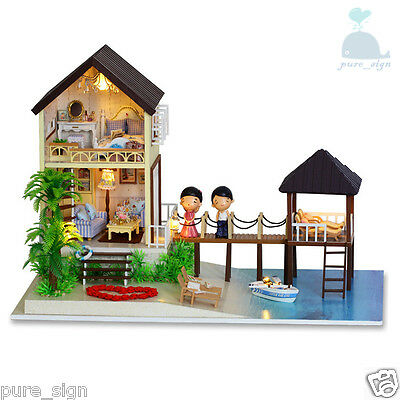 DIY Handcraft Miniature Project Wooden Dolls House My Water Villa in Maldives