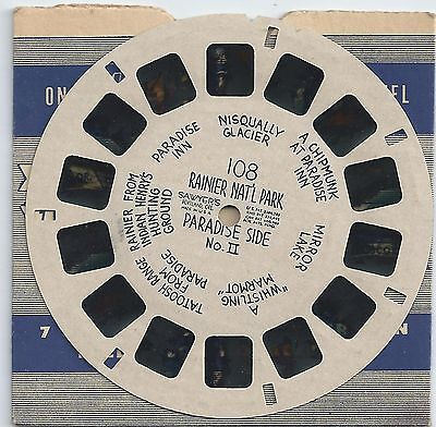 108 Rainier Nat'l Park Paradise Side No. II  Hand-lettered Viewmaster Reel