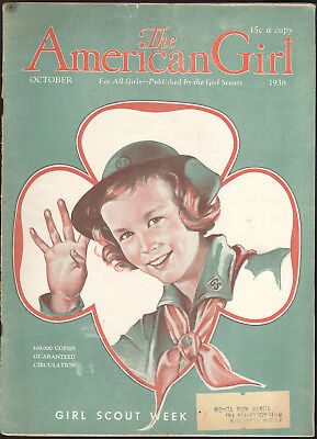 1938 American Girl Magazine, Girl Scout On Cover