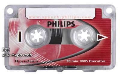 Philips LFH0005/60 Executive 30 Minute Mini Cassette Tape - 5 Pack - New