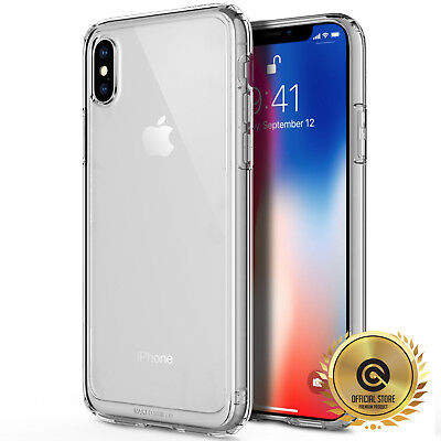 OBLIQ® iPhone Xs, X [Naked Shield] Clear Case Cover Tough Bumper Slim Fit 10,10s
