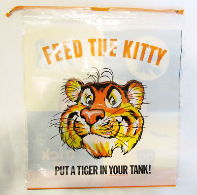 EXXON ESSO TIGER 1960's HALLOWEEN FEED THE KITTY TRICK OR TREAT BAG UNUSED BO