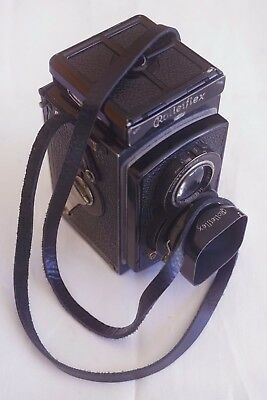 Rolleiflex Old Standard or Baby black leather strap, for our Old Rollei