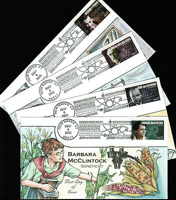 2005 - Collins - Set of 4 Covers - American Scientists - #3906-3909