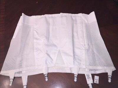SISSY 1950s Girdle Size 48 new old stock WHITE SUPER RARE WITH GARTERS !!