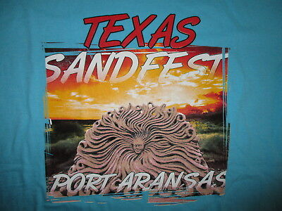 TEXAS SANDFEST T SHIRT Sand Sculpture Competition Port Aransas Beach Festival LG