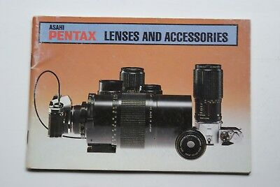Asahi Pentax Lenses And Accessories Manual In Good Used Condition