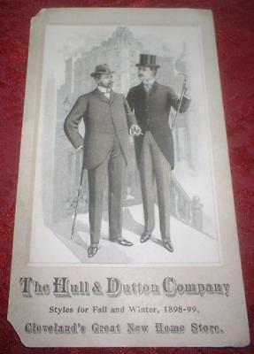 Vintage Antique 1898 Hull & Dutton May Company Cleveland Ohio Store Trade Card