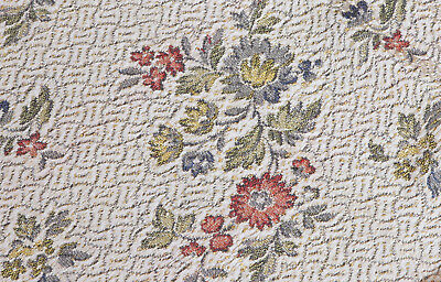 Vintage Brocade Scattered Floral ~ Flowers Fabric Bedspread