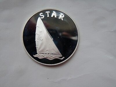 1980 MOSCOW OLYMPIC MEDAL SILVER PROOF STAR keelboat