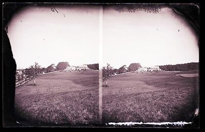 Antique Glass Negative, Fc Philpot, Great Old Farmhouse And Great Fields