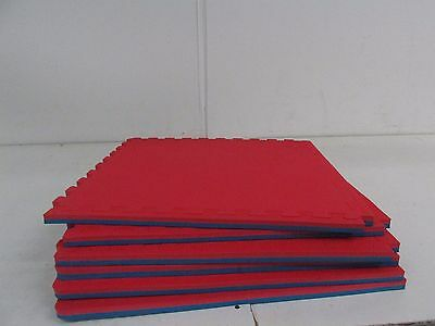 IncStores 78jumboredblue6 - Jumbo Soft Interlocking Foam Tiles 6 Tiles, Red/Blue