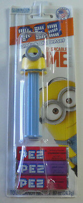 PEZ STUART (Minions) Candy Dispenser New On Despicable Me Card