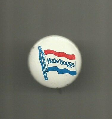 1968 Hale Boggs of Louisiana for Congress 2CD Litho Pin Button Cokie Roberts Dad