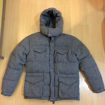 c7c200455a Auth Head Porter Plus Gray Knit Pattern Wool Down Padded Hoodie Parka Xl  Supreme