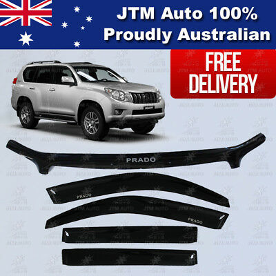 TOYOTA Prado 150 Bonnet Protector Guard Weather Shields Window Visors 2009-2013
