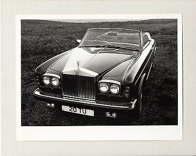 Rolls Royce D.h.c. Photograph Mounted To Card.