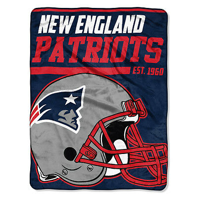 NFL große Decke NEW ENGLAND PATRIOTS Silk Throw Blanket 40 Yard Dash Football