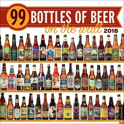 99 Bottles of Beer on the Wall 2018 Square Wall Calendar 30x30cm