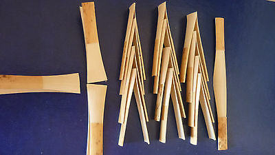 A bundle of 15 pieces Glotin  bassoon cane,gouged,profiled and shaped /CGnF2/