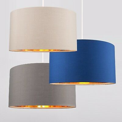 Modern Large 45cm Easy Fit Ceiling Pendant Light Shade Gold Interior Lampshades