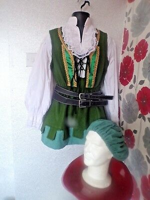 Quality Hand Finished  Medieval /tudor Robin Hood  Style Outfit Size Sm