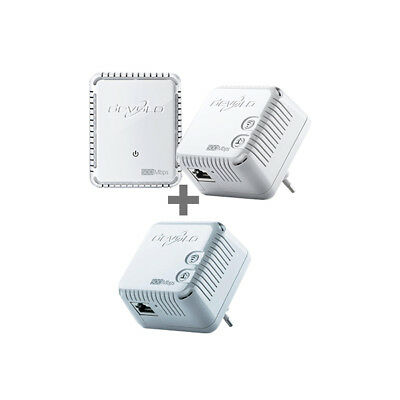 devolo dLAN 500 WiFi Network-Kit Brown-Box (500MBit, 3er Kit, Powerline + WLAN)