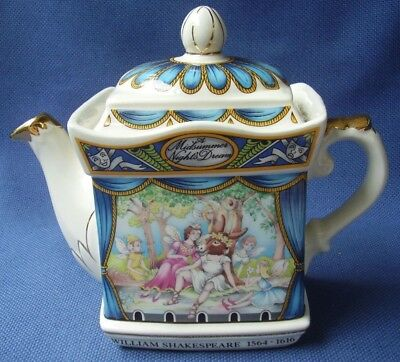 Sadler - Novelty Collector Teapot  *shakespeare*  Midsummer Nights Dream - Vgc