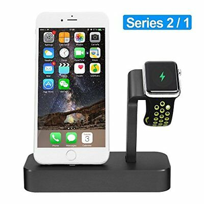Apple Watch Stand, iPhone 7/7Plus/6s/6s Plus Charging Station, Alritz Aluminum 2