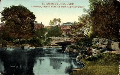 Ak Dublin Irland, St. Stephen's Green, The Bridge, Pleasure Ground - 977740