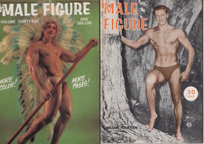 LOT of 4 MALE FIGURE vintage gay physique magazines BRUCE of LA hot muscle guys!